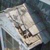 Deteriorated slate roof