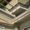 Missing section of rain gutter