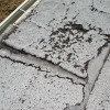 Deteriorated flat roof covering